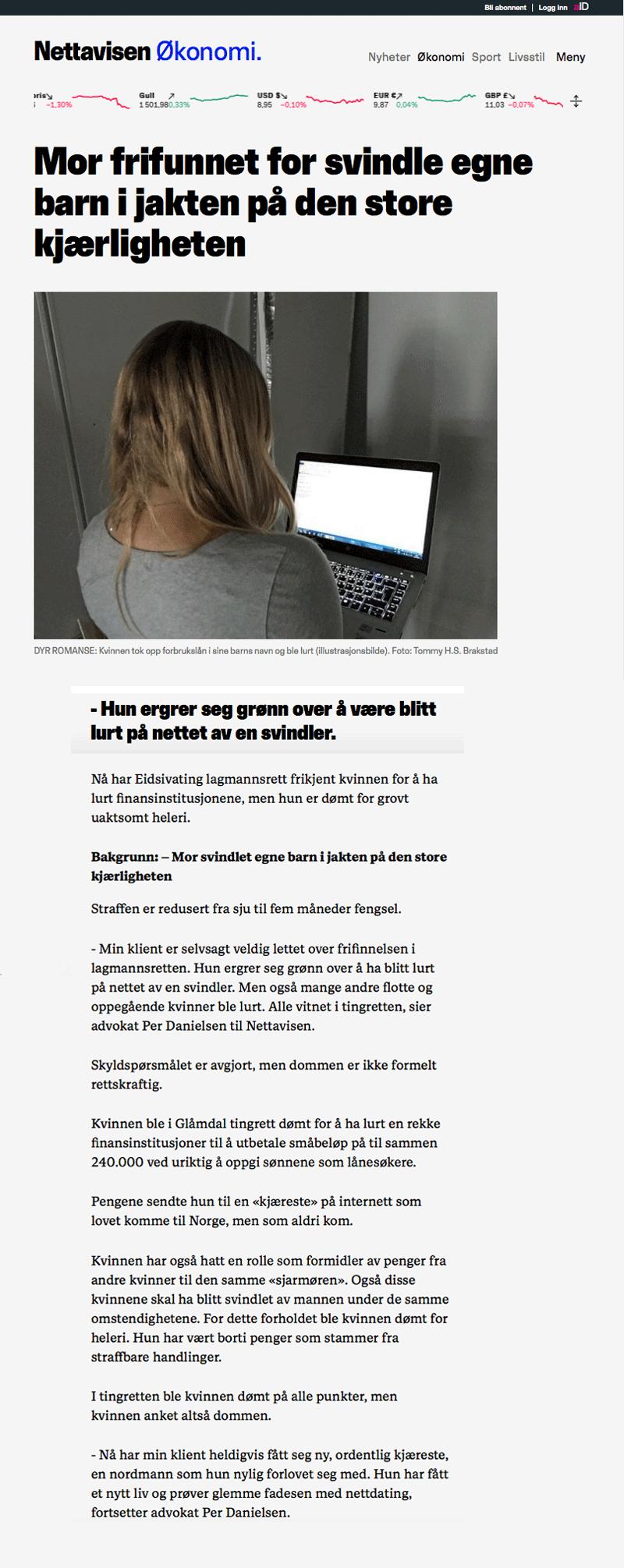 Advokat økonomisk kriminalitet. Frifunnet for å svindle egne barn. Advokat Danielsen & Co. Per Danielsen.
