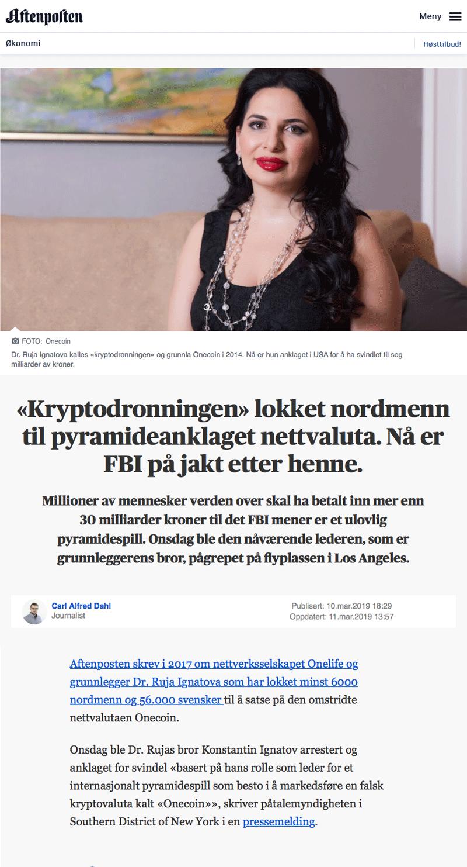 Advokat økonomisk kriminalitet Kryptodronningen lokket nordmenn til pyramideanklaget nettvaluta. Advokat Danielsen & Co. Per Danielsen.