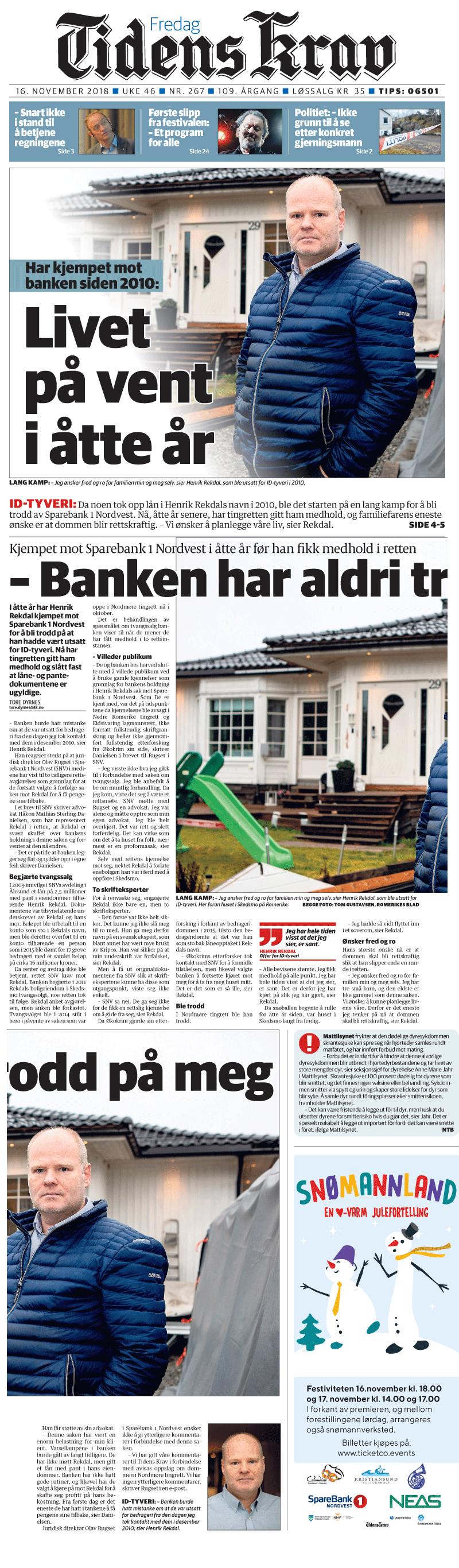 Id-Tyveri Kjempet mot banken. Offer di ID Tyveri. Advokat Danielsen & Co. Per Danielsen.