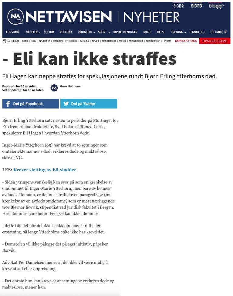 Ærekrenkelse TV2 dømt i Baneheia-saken. Advokat Danielsen & Co. Per Danielsen. Advokat i Oslo.