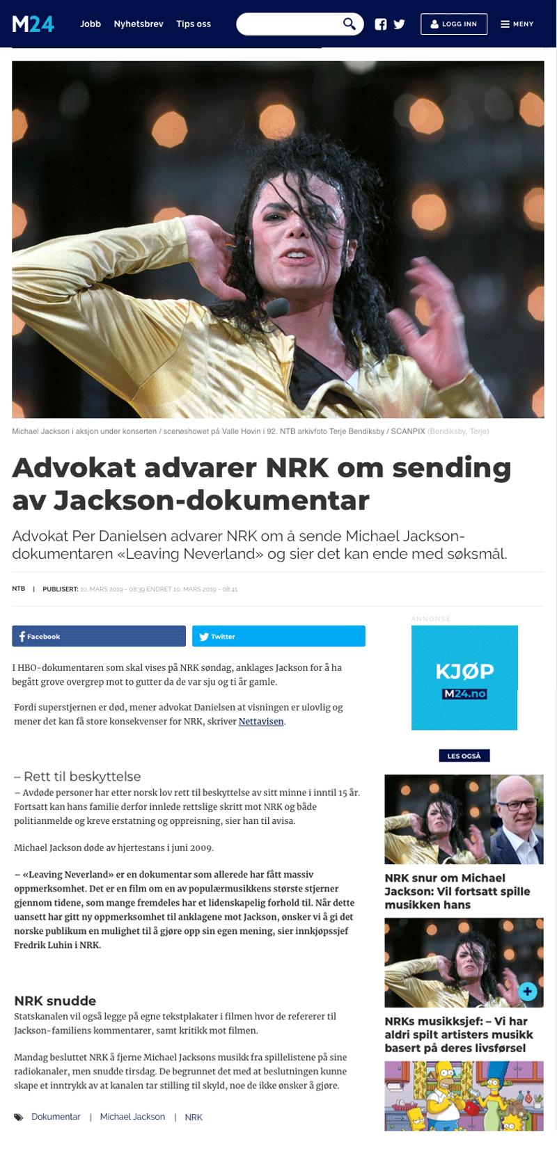 Danielsen advarer NRK. Alminnelig praksis. Advokat Danielsen & Co. Per Danielsen. Advokat i Oslo.