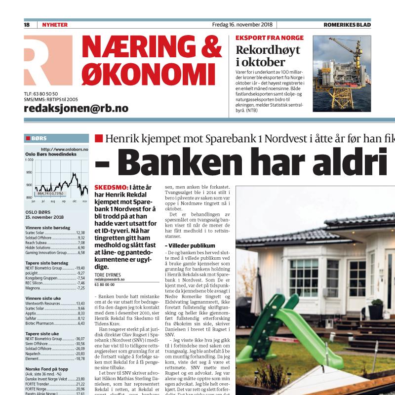 ID-Tyveri. Kjempet mot banken i åtte år. Advokat Danielsen & Co. Per Danielsen. Advokat i Oslo.
