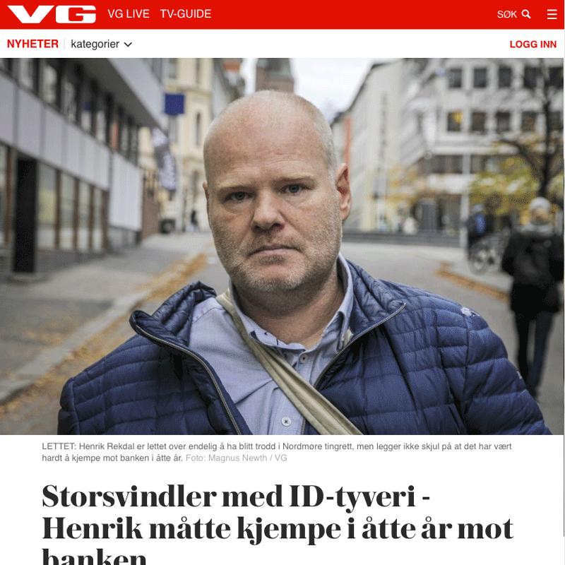 Utsatt for ID tyveri. Advokat Danielsen & Co. Per Danielsen. Advokat i Oslo.