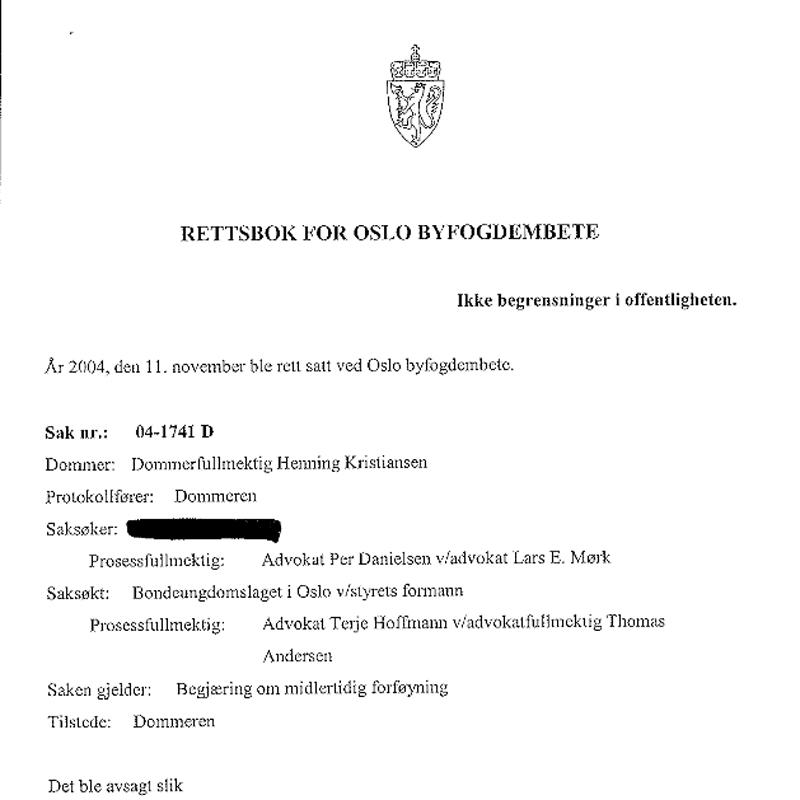 Eksklusjonssak. Bondeungdomslaget. Advokat Danielsen & Co. Per Danielsen. Advokat i Oslo.
