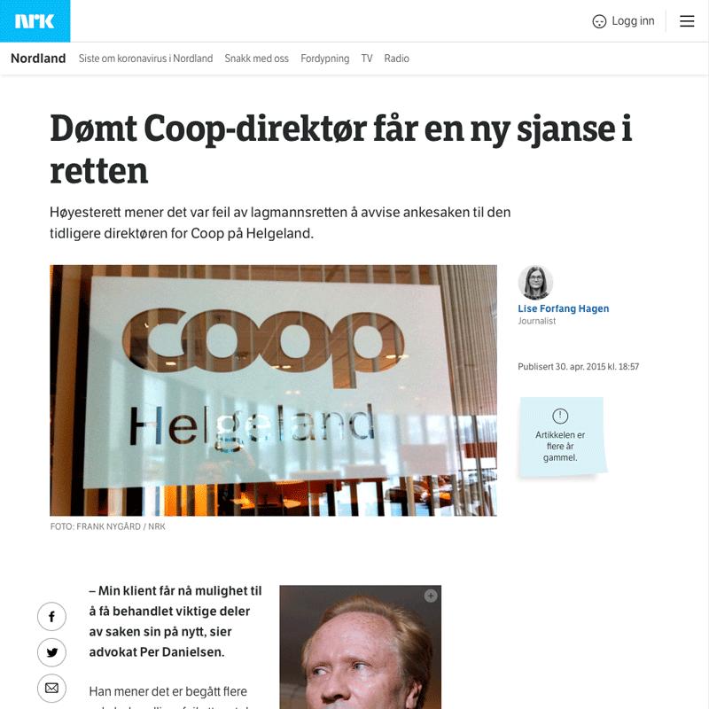 Ny sjanse for dømt mann. Advokat Danielsen & Co. Per Danielsen. Advokat i Oslo.