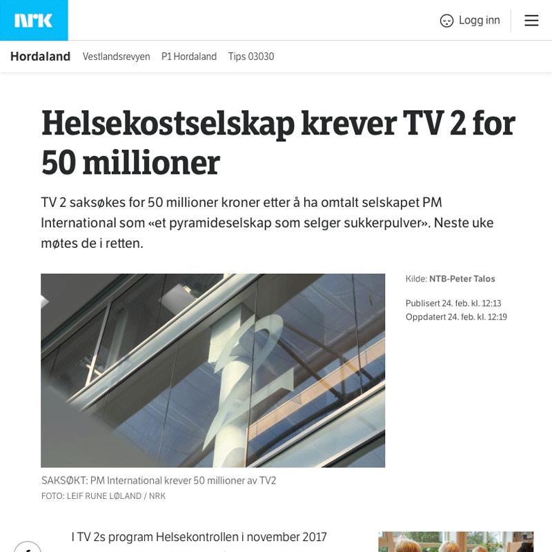Krever 50 millioner av TV2. Advokat Danielsen & Co. Per Danielsen. Advokat i Oslo.