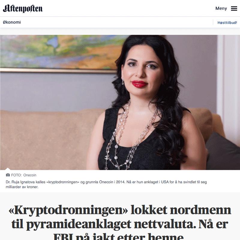 Kryptodronningen lokket nordmenn til pyramideanklaget nettvaluta. Advokat Danielsen & Co. Per Danielsen. Advokat i Oslo.