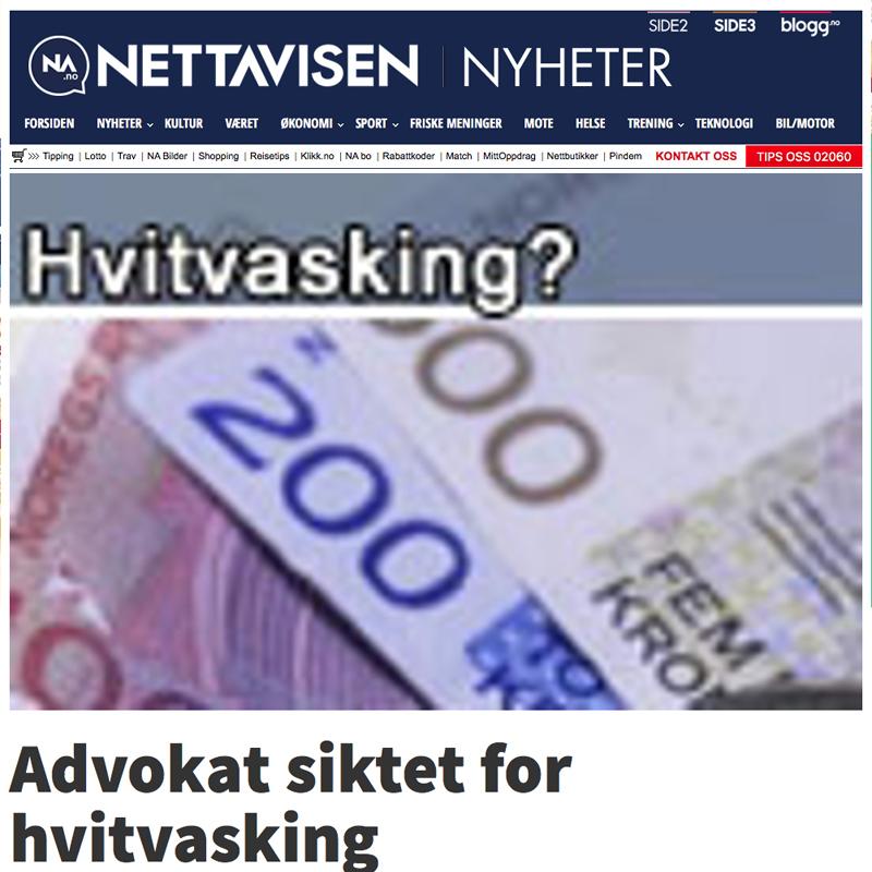 Advokat siktet for hvitvasking. Advokat Danielsen & Co. Per Danielsen. Advokat i Oslo.