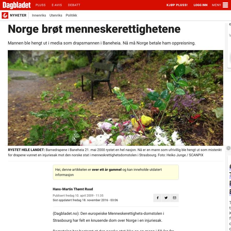 Omtale i Dagbladet. Advokat Danielsen & Co. Per Danielsen. Advokat i Oslo.